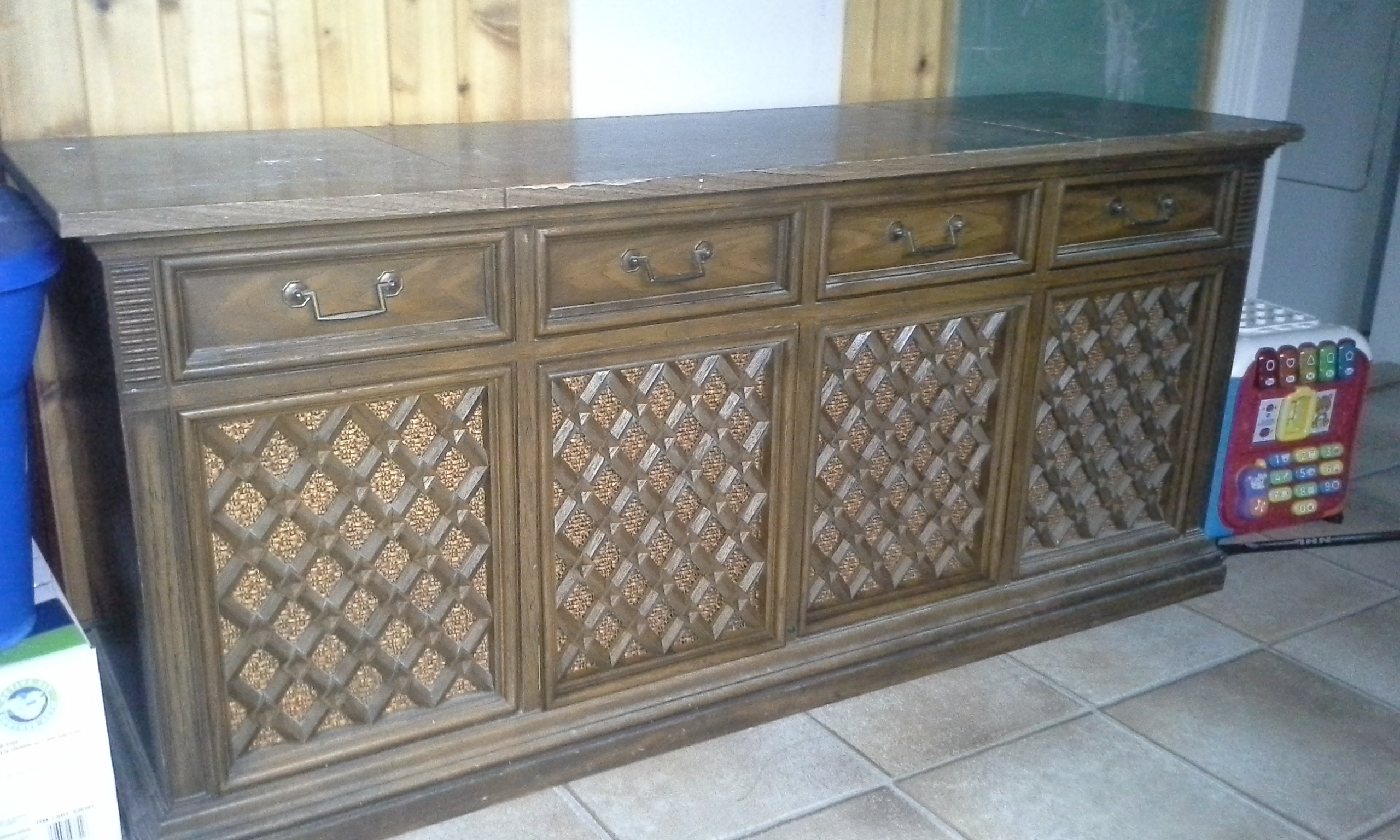 ancien meuble système de son des années 70